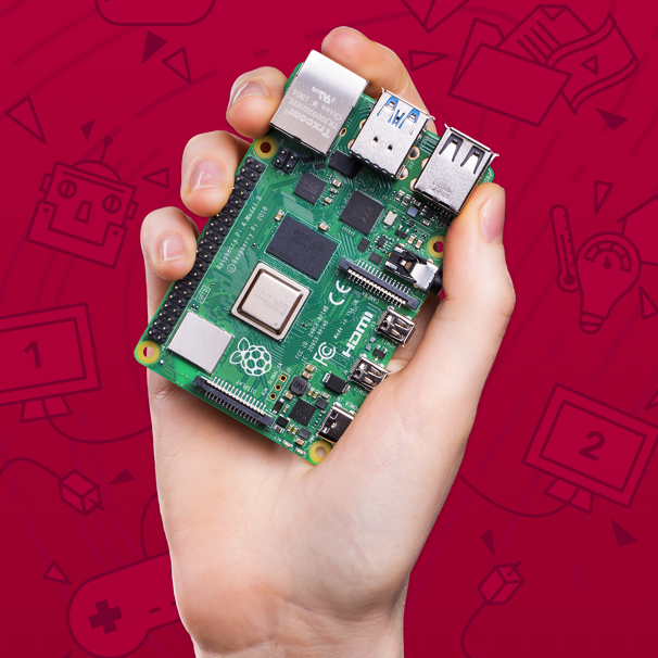 Raspberry Pi 4 in the palm of your hand